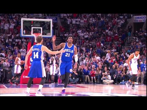 Joel Embiid Gets Philly on Its Feet with First Basket and Block
