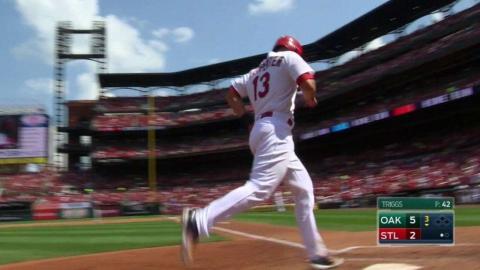 OAK@STL: Carpenter hits a solo home run to center