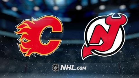 Monahan scores twice as Flames defeat Devils, 3-2