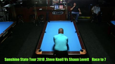 Steve Knoll Vs  Shaun Lovett 2018 Sunshine State Pro AM 9 Ball