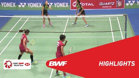 YONEX-SUNRISE DR. AKHILESH DAS GUPTA India Open 2018 | Badminton WD - F - Highlights | BWF 2018