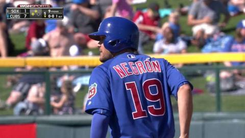 CWS@CHC: Negron plates a run on a ground-rule double