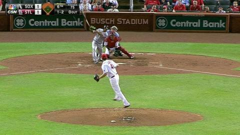 CWS@STL: Cabrera's solo homer gives White Sox lead