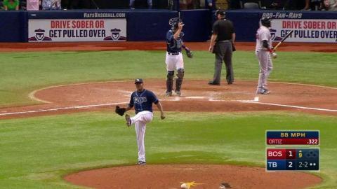 BOS@TB: Romero earns his first Major League save