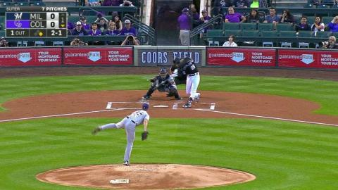 MIL@COL: Arenado hits a two-run jack to center