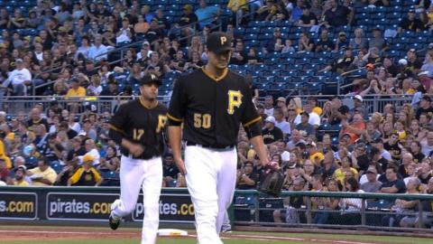MIL@PIT: Morton limits Brewers to two runs over six