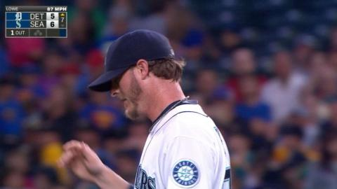 DET@SEA: Lowe fans all three batters in the 7th