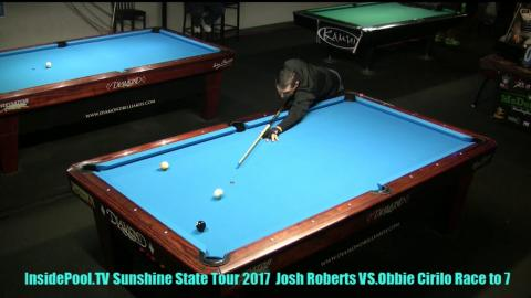 Josh Roberts VS  Obie Cirillo 2018 Sunshine State Tour at Park Ave  Billiards, FL