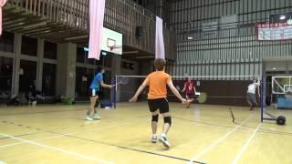 20150503FUMA Badminton Club MD林老師+小張vs小慧+惠齡WD