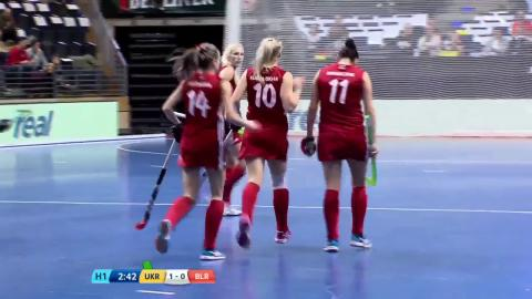 Ukraine v Belarus - Match Highlights Indoor Hockey World Cup - Women's Bronze Medal Match