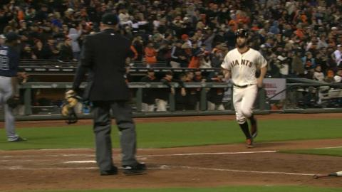 ATL@SF: Giants' bats come alive in six-run 8th inning