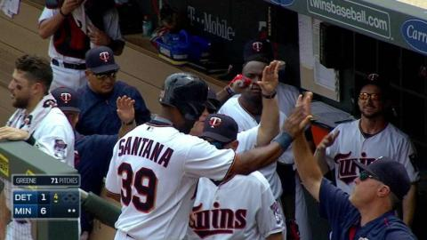 DET@MIN: Dozier adds to lead with sac fly in 4th