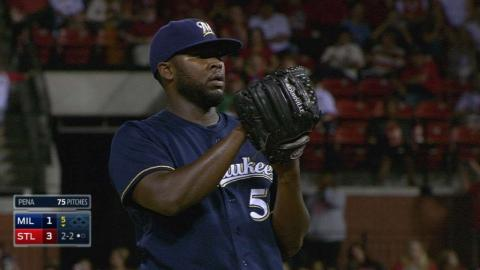 MIL@STL: Pena goes five, fans five in no-decision