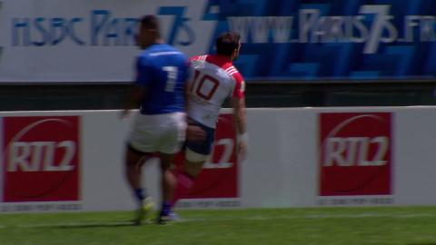 Julien Candelon bids farewell to France 7s with a great try