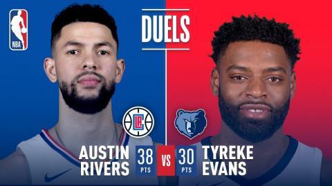 Austin Rivers and Tyreke Evans Duel in Memphis | December 23, 2017