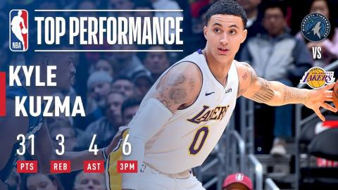 Kyle Kuzma Shows Out In First Christmas Game | Dec. 25, 2017