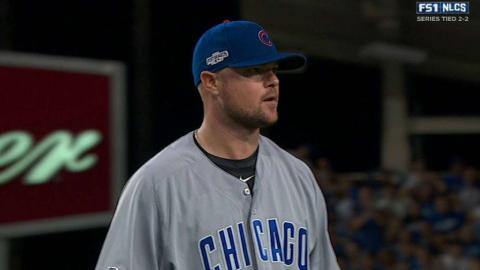 NLCS Gm5: Lester strikes out Kendrick to end the 6th