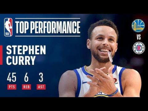 Steph Curry Drops 45 Points In ONLY 29 Minutes vs The Clippers