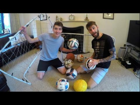 Ultimate HOMEMADE Football Challenges vs. MY BRO!!