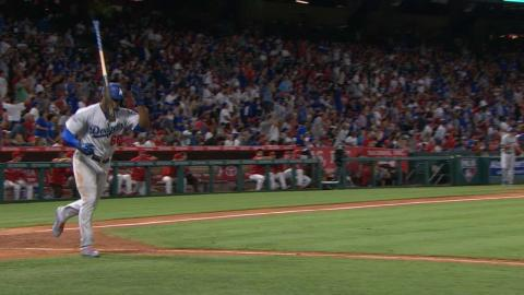 LAD@LAA: Puig crushes a solo homer to left field