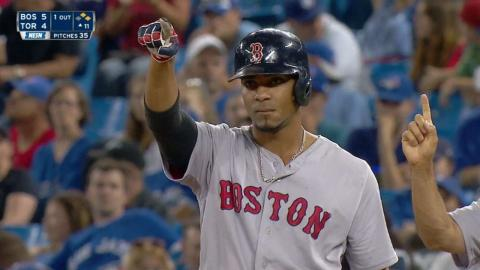 BOS@TOR: Bogaerts gives Red Sox lead with a single