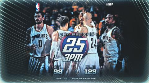 Cleveland Cavaliers Set All-Time NBA Record with 25 Three-Pointers!