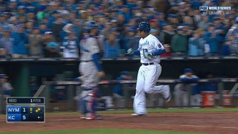 WS2015 Gm2: Orlando brings home Perez with sac fly
