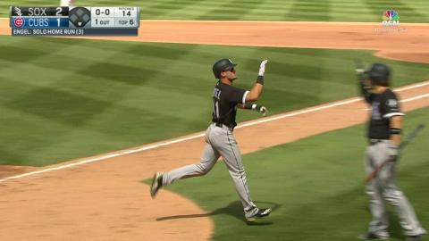 CWS@CHC: Engel puts the White Sox up with a solo shot