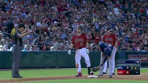 MIL@ARI: Owings scores Weeks Jr. on a triple to right