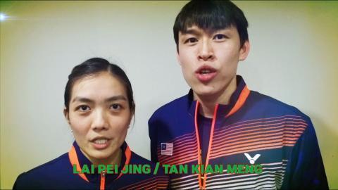 BadmintonWorld.TV - Lai Pei Jing & Tan Kian Meng Wishes All Fans A Merry Xmas & Happy New Year