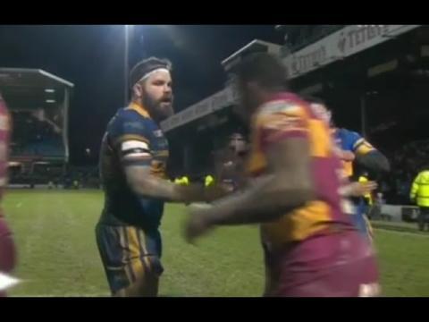 Leeds Rhinos vs Huddersfield Giants rugby league 04.03.2016 English Super League 2016 R4