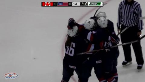 2017 U18 Series | Game One Highlights: USA 4, Canada 1
