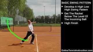 Tennis Groundstrokes Tips - The Basic Swing Pattern