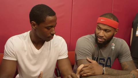 Demarcus Cousins Learns Portuguese With Jerome Meyinsse