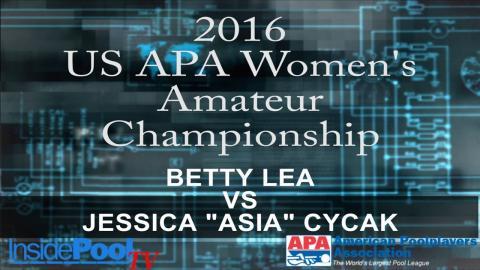 2016 U S  APA Womens Amateur Championship Betty Lea vs Jessica Asia Cycak