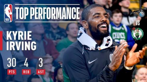 Kyrie Irving Scores 30 Points in Less Than 25 Minutes vs. Magic   November 24, 2017