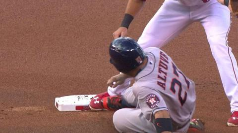 HOU@LAA: Angels challenge safe call at second in 1st