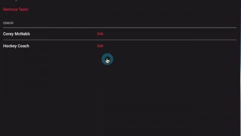 Editing Teams - Android