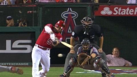 CLE@LAA: Calhoun's RBI knock gets Angels on the board