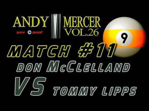 #11 • 2016 Mercer 9-Ball • Don McCLELLAND vs Tommy LIPPS