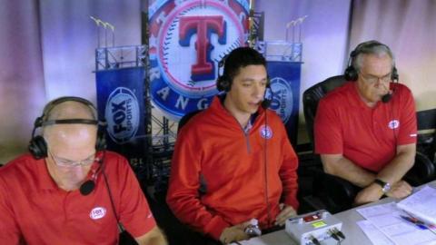 HOU@TEX: GM Jon Daniels joins the Rangers booth