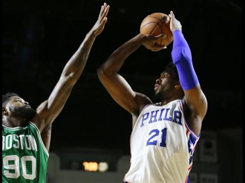 Joel Embiid Shows Upside in First NBA Game