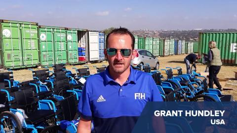FIH Officials Help Build Wheelchairs in Light of Mandela Day!