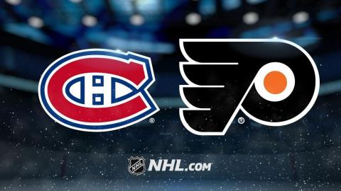 Giroux, Konecny power Flyers to 5-3 win against Habs