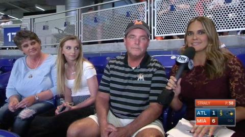 ATL@MIA: Riddle's family on J.T. getting called up