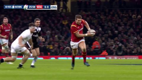 Biggar nearly scores incredible try after chip and chase! | RBS 6 Nations