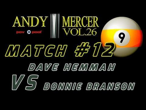 #12 • 2016 Mercer 9-Ball • Dave HEMMAH vs Donnie BRANSON