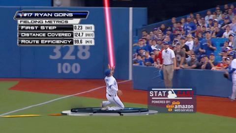 Statcast analyzes Goins' efficiency on MLB Central