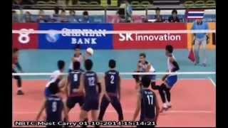 Thailand VS Korea Republic Volleyball Men Asian Games 2014
