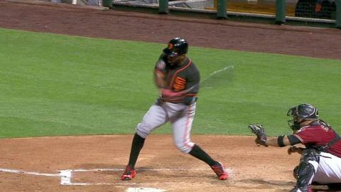SF@ARI: Span hits a solo jack to center field